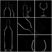 Wine Pouring Prints - Wine Print by Bahadir Yeniceri