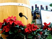 Pouring Wine Photos - Wine Barrel Display by Renee Trenholm
