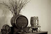 Wine Service Photo Metal Prints - Wine Barrels Metal Print by Alanna Dumonceaux