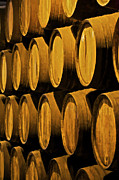 Wine Cellar Photos - Wine Barrels by David Letts