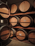 Wine Barrel Photo Originals - Wine Barrels by Jan Massie