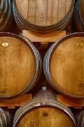 Wine Barrels Print by Michele Steffey