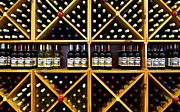 Wine-bottle Prints - Wine Bottle Abstract Print by Robert Harmon