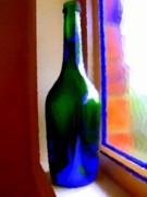 Liquid Framed Prints - Wine Bottle Framed Print by Chris Butler