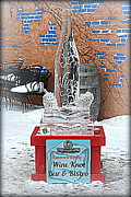 Kay Novy - Wine Bottle Ice Sculpture