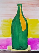 Wine Bottle Paintings - Wine Bottle by Troy Thomas