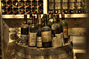 Wine Cellar Photos - Wine Bottles by Nicki McManus