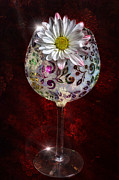 Sparkling Wine Digital Art Prints - Wine Bouquet Print by Bill Tiepelman