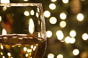 Wine Photography Photos - Wine by the Lights by Andrew Soundarajan