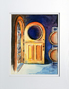 Cellar Paintings - Wine Cave Door by Richelle Siska