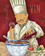 Dine Posters - Wine Chef II Poster by Shari Warren