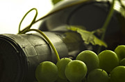 Grape Vine Photo Originals - Wine Closeup Abstract by Ioan Panaite