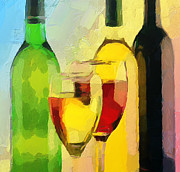 Stimulation Digital Art Posters - Wine Colors Poster by Yury Malkov