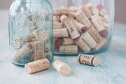 Ball Jar Prints - Wine Cork Collection Print by Kay Pickens