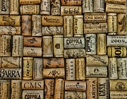 Fine Wines Framed Prints - Wine Corks after the Wine Tasting Framed Print by Paul Ward