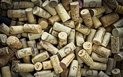 Wine-glass Posters - Wine Corks Poster by Edward Fielding