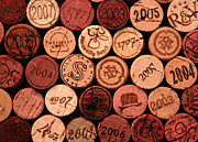 Vintage Wine Lovers Art - Wine corks by John Stuart Webbstock
