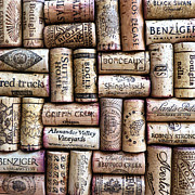 Cork Digital Art Framed Prints - Wine Corks Framed Print by Patricia Januszkiewicz