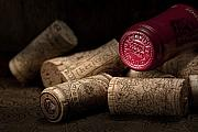 Wine Bottle Art Posters - Wine Corks Still Life IV Poster by Tom Mc Nemar