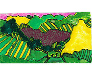 Wine Country. Mixed Media Framed Prints - Wine Country Framed Print by Don Koester