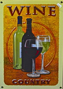 Riesling Posters - Wine Country Poster by Robert Harmon