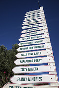 White Wine Framed Prints - Wine country signs Framed Print by Garry Gay
