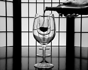 Wine Service Photo Metal Prints - Wine for Three 2 Metal Print by John Debar