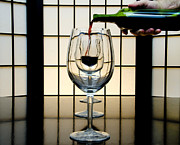 Wine Service Photo Metal Prints - Wine for Three Metal Print by John Debar