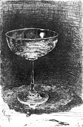 Champagne Glasses Photos - Wine Glass 1860 by Padre Art