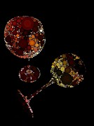 Merlot Posters - Wine Glasses  Poster by Cindy Edwards