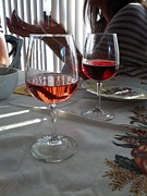 Merlot Photo Originals - Wine Glasses by JS Matthew