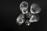 Canvas Wine Prints Prints - Wine Glasses Print by Randi Grace Nilsberg