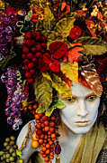 Grape Leaves Photos - Wine Goddess by Boyd Alexander