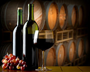 Wine Cellar Photos - Wine in the Cellar by Brian Enright