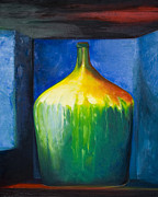 Wine Country Card Paintings - Wine Jug by Carol Landry