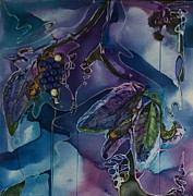 Grape Leaf Mixed Media - Wine Line by Pat Purdy