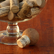 Wine Cork Collection Prints - Wine Lover Print by Art Block Collections
