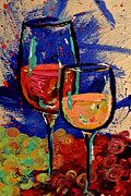 Riesling Paintings - Wine-o 2 by Lee Walker