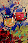 Merlot Prints - Wine-o Print by Lee Walker