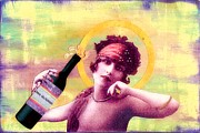 Vintage Wine Mixed Media - Wine of Love by Desiree Paquette