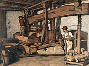 Wine Press 1890 Print by Padre Art
