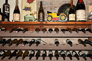 Vintage Red Wine Prints - Wine Rack In The Cellar Room At the Swiss Hotel In Sonoma California 5D24445 Print by Wingsdomain Art and Photography