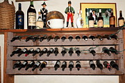 Champagne Posters - Wine Rack In The Cellar Room At the Swiss Hotel In Sonoma California 5D24446 Poster by Wingsdomain Art and Photography