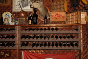 Vintage Red Wine Prints - Wine Rack In The Cellar Room At the Swiss Hotel In Sonoma California 5D24449 Print by Wingsdomain Art and Photography