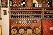 Vintage Red Wine Prints - Wine Rack In The Cellar Room At the Swiss Hotel In Sonoma California 5D24451 Print by Wingsdomain Art and Photography