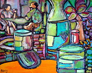 British Columbia Paintings - Wine Spirit in German Restaurant in Kimberly BC Canada by Aeris Osborne