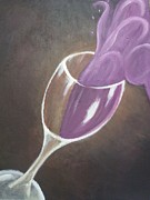 Wine Glass Paintings - Wine Splash by Samuel Silva