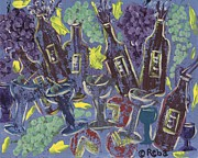 Wine Glasses Painting Originals - Wine Tasting by Reba Baptist