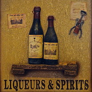 Hooch Prints - Wine Time Print by Robert Harmon