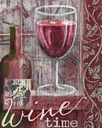 Merlot Digital Art - Wine Time by Sharon Marcella Marston